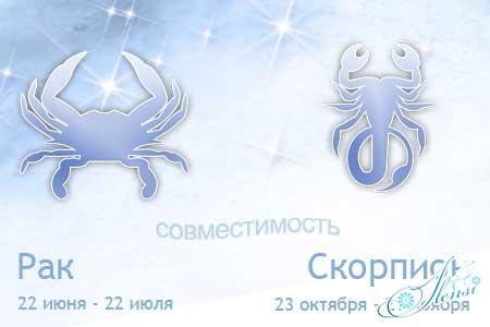 совместимость рак скорпион