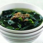 Суп с морской капустой традиционный