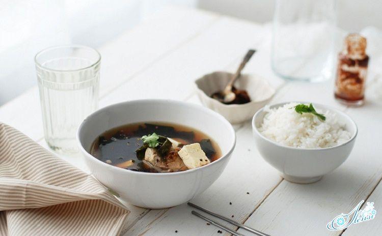 Суп с морской капустой по корейски