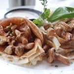 блины с грибной начинкой