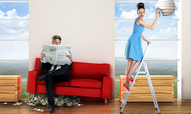 Доходы мужа под диваном