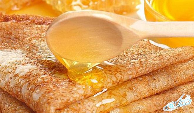 тонкие блины на кефире с медом