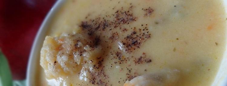 Крем суп из цветной капусты с мясом