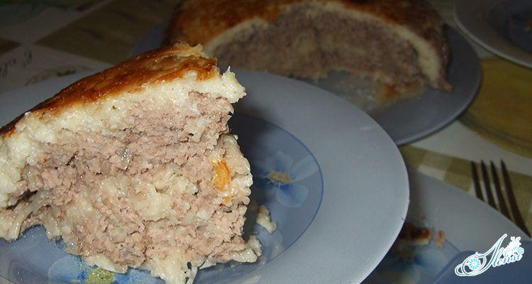 Запеканка с вермишелью и мясом