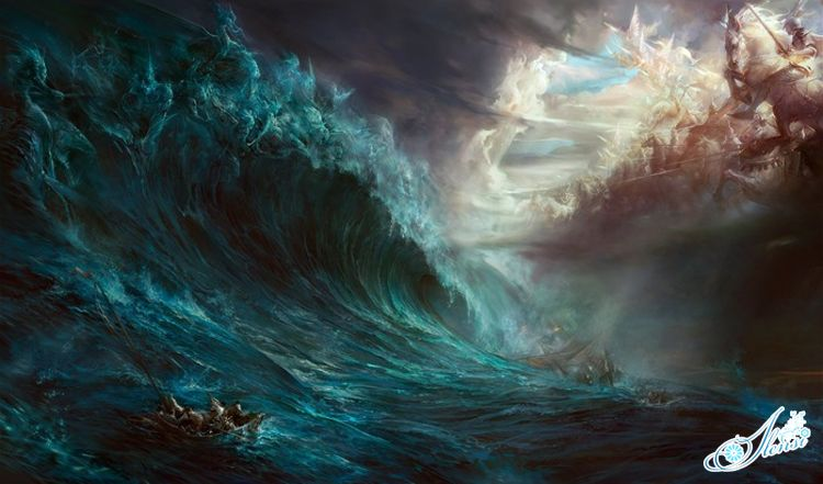 Бушующее море.