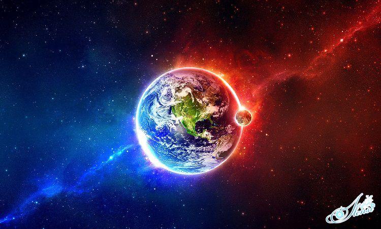 Планета в космосе.