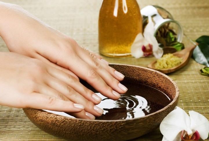 Ванночка для увлажнения рук из оливы