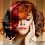 Девушка с разным цветом волос