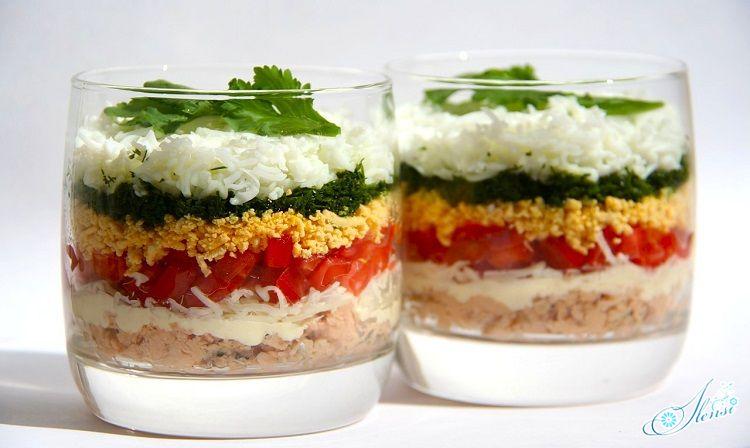 Сервировка салата в отдельные ёмкости