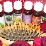 Эфирные масла и расческа