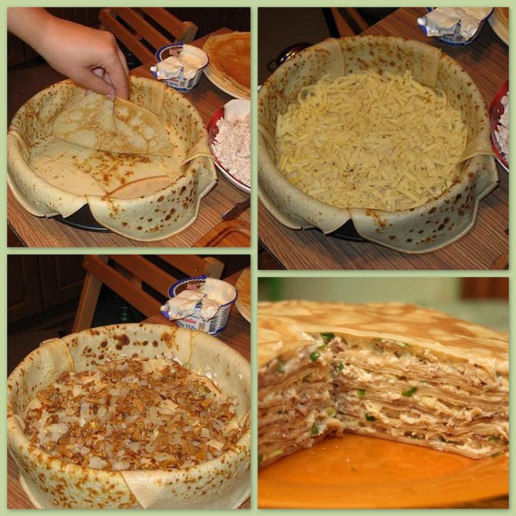 ; шага готовки пирога