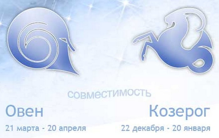 Насколько совместимы знаки Зодиака Овен и Козерог