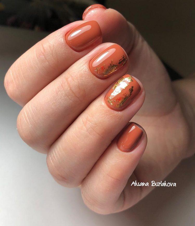 Оранжевые с золотом
