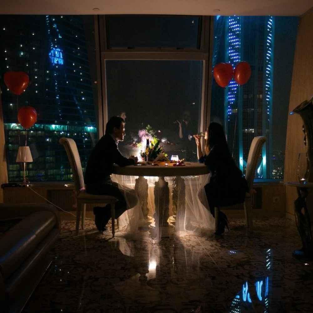 Как провести романтический вечер в Москва-Сити?